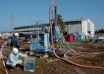 高圧噴射攪拌工法の試験