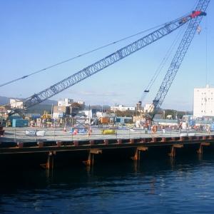 青森港沖館地区岸壁(-7.5m)(改良)護岸改良工事