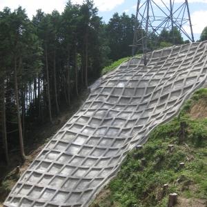 熊本幹線鉄塔敷地法面の復旧工事