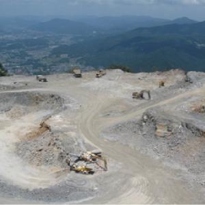 宇根鉱山石灰岩採掘工事