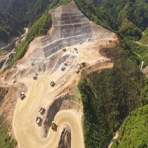 大分川ダム建設工事
