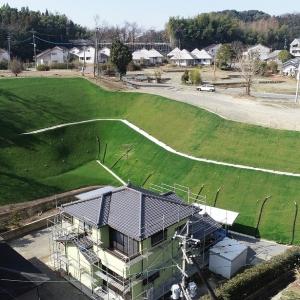 熊本震災による宅地法面災害の滑動崩落防止工事