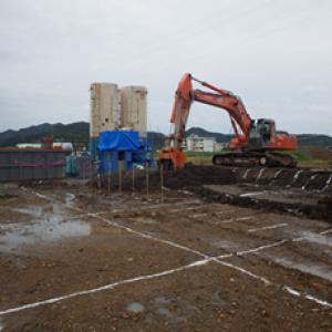 道路新設に伴う地盤改良工事