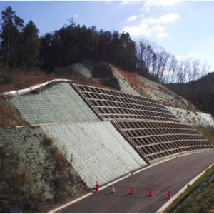 付替県道松青線第3工区法面対策工事